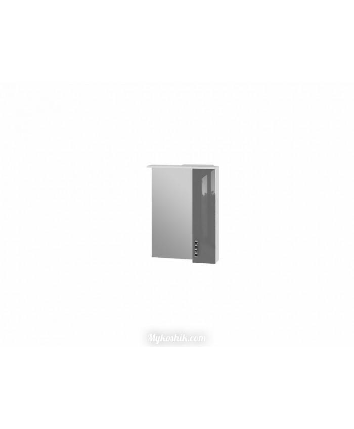 Зеркальный шкаф TRENTO, TrnMС-60 (правый), серый