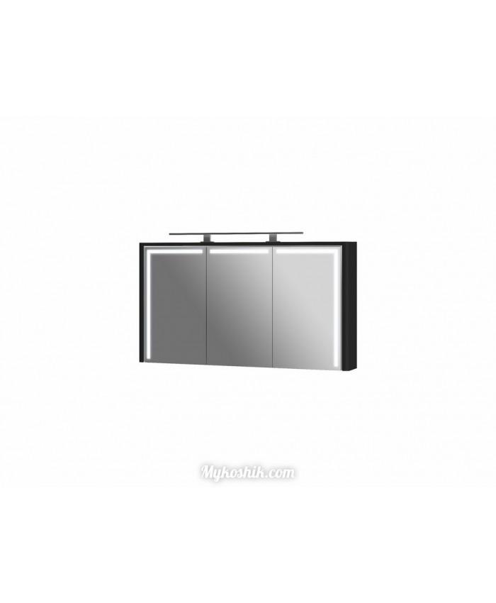 Зеркальный шкаф Levanto LvM-130 черный