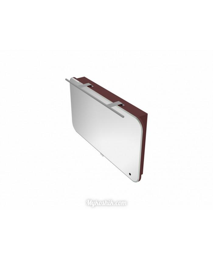 Зеркальный шкаф Velluto VltMC-100 бордовый
