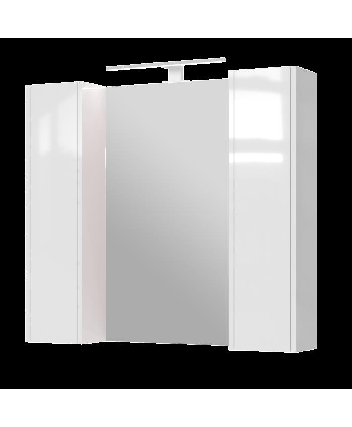 Зеркальный шкаф Bronx BrxMC-90 белый