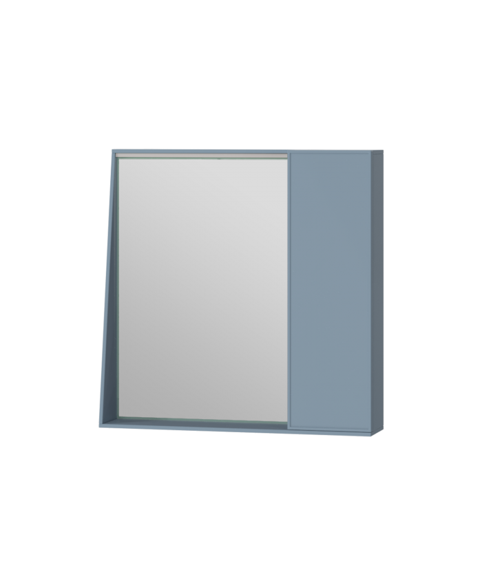 Зеркальный шкаф Manhattan MnhMC-70 голубой