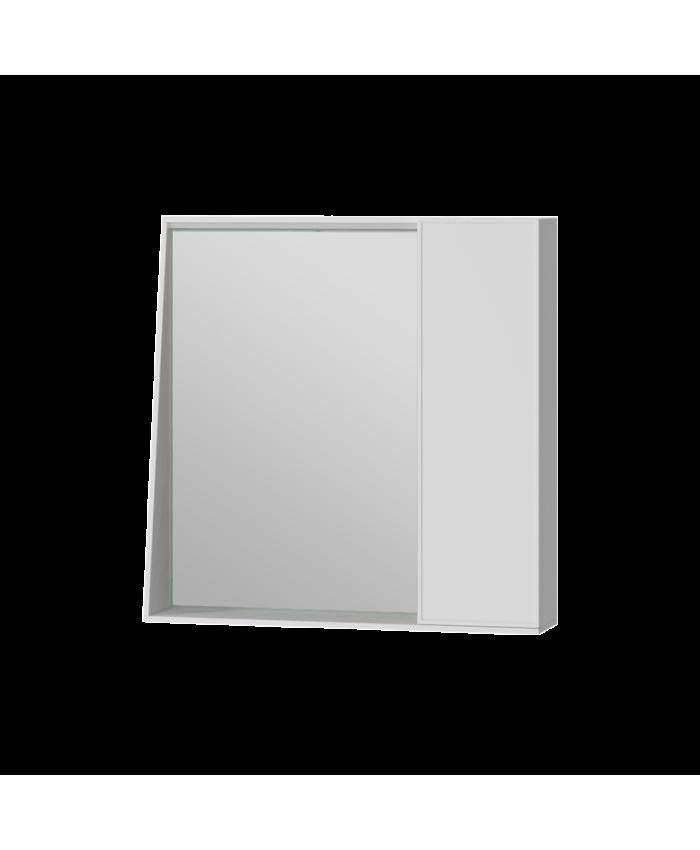 Зеркальный шкаф Manhattan MnhMC-70 белый