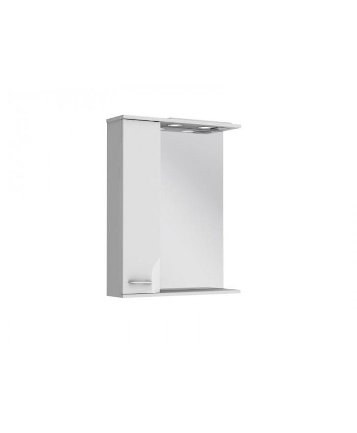 Зеркальный шкаф FRANCHESKA ФШНЗ 2-65 левый белый