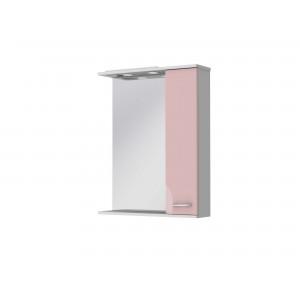 Зеркальный шкаф FRANCHESKA ФШНЗ 2-65 правый розовый