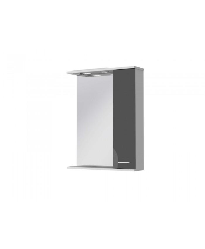 Зеркальный шкаф FRANCHESKA ФШНЗ 2-65 правый черный