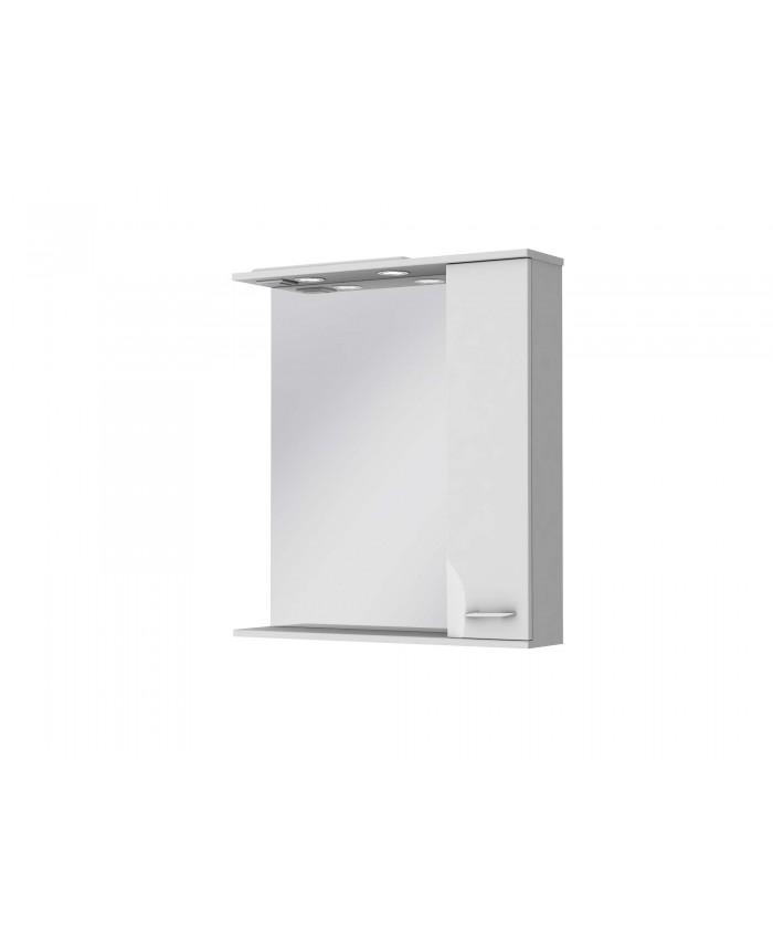Зеркальный шкаф FRANCHESKA ФШНЗ 2-75 правый белый