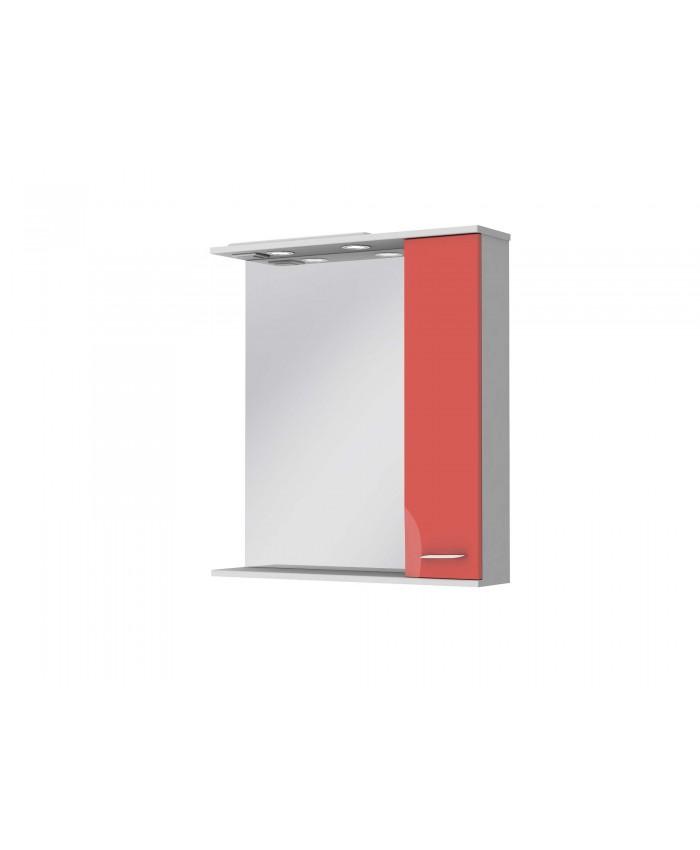 Зеркальный шкаф FRANCHESKA ФШНЗ 3-75 правый красный