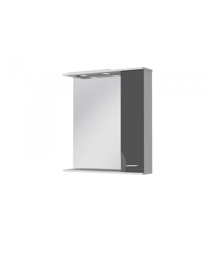 Зеркальный шкаф FRANCHESKA ФШНЗ 3-75 правый черный
