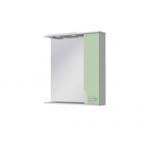 Зеркальный шкаф FRANCHESKA ФШНЗ 3-75 правый салатовый