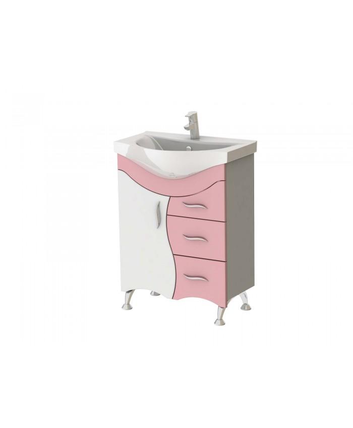 Тумба BRIZ Б2-65 розовая