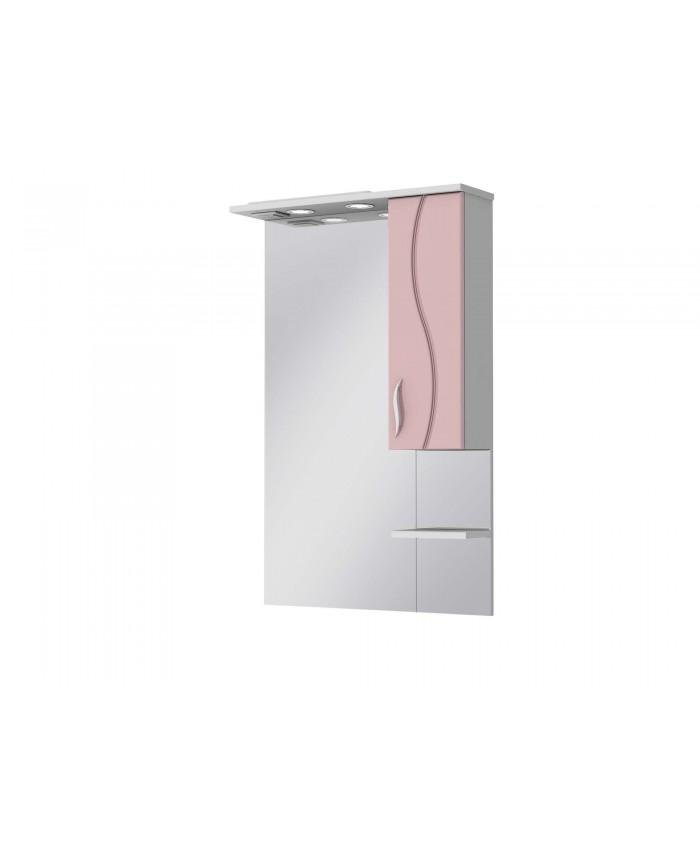 Зеркало BRIZ БШНЗ 2-65 розовое правое
